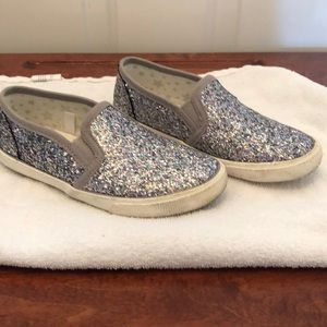 Cat and Jack Glitter Slide On Shoes Girls Size 12
